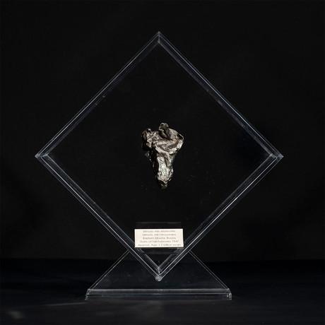 Sikhote Alin Meteorite // Siberia // Transparent Acrylic Display // Ver. 2
