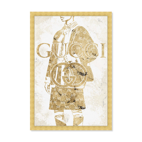 "Glistening Gold Fashion (24""H x 16""W x 1.5""D)"