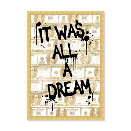 """All a Dream Money (24""""H x 16""""W x 1.5""""D)"""