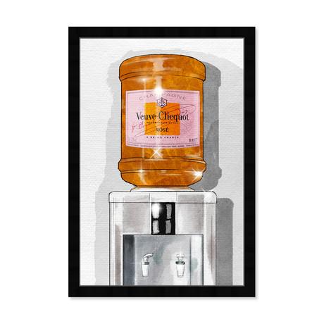 "Parisian Orange Champagne Watercooler (26""H x 18""W x 0.5""D)"