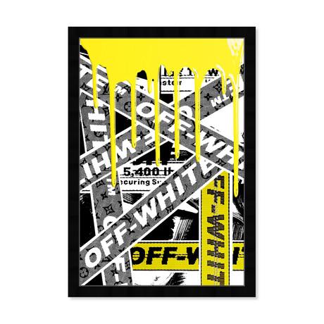 """Not Art But Yellow OFF Art (26""""H x 18""""L x 0.5""""D)"""