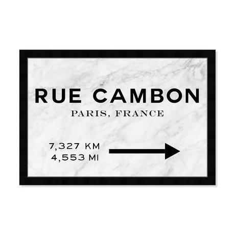 """Rue Cambon Road Sign (18""""H x 26""""W x 0.5""""D)"""