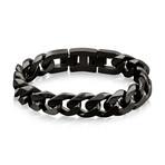 Steel Cuban Link Bracelet // 14mm // Black