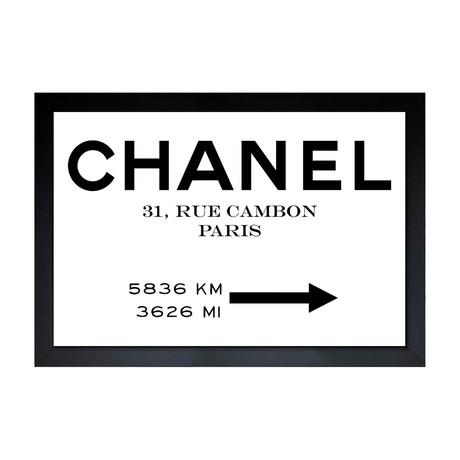"Couture Road Sign Minimalist (18""H x 26""W x 0.5""D)"