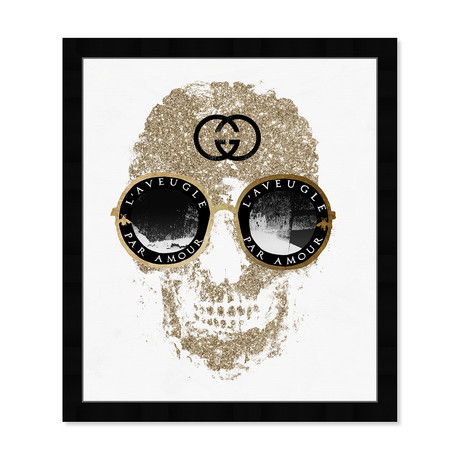 "Razz-Dazz Shades Skull Gold (22""H x 19""W x 0.5""D)"