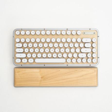 Azio Retro Classic Compact Keyboard + Palm Rest (Maple)