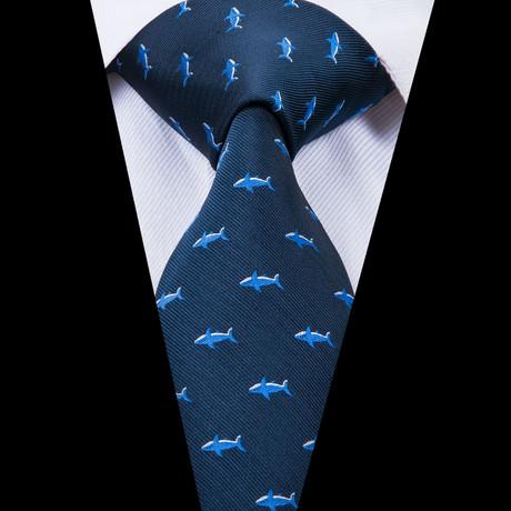 Lenny Handmade Silk Tie // Blue
