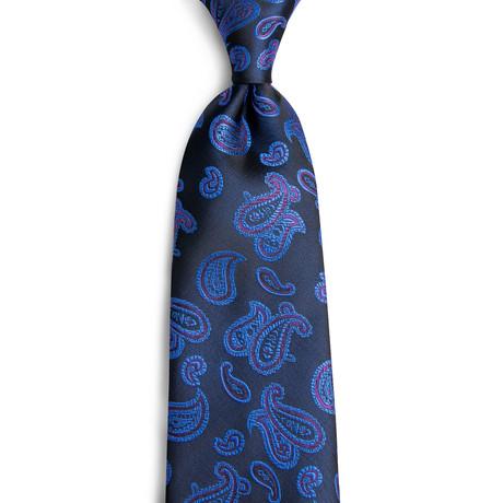 Silas Handmade Silk Tie // Navy