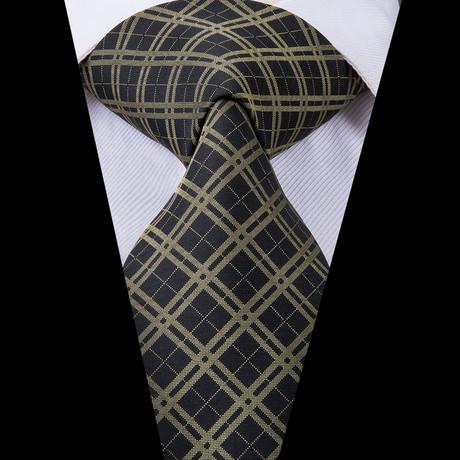 Trenton Handmade Silk Tie // Black + Tan