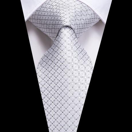 Emerson Handmade Silk Tie // Silver
