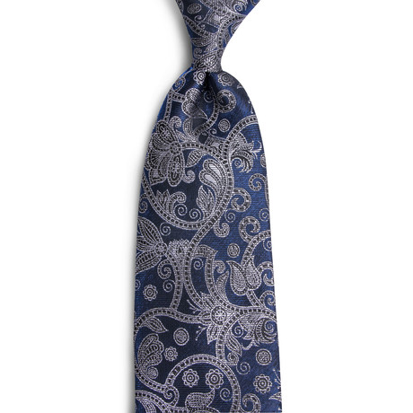 Asher Handmade Silk Tie // Navy