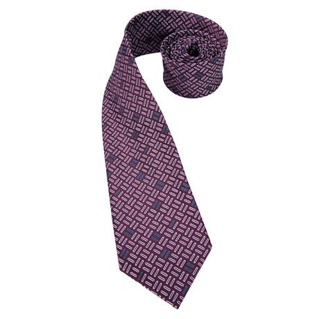 Lawson Handmade Silk Tie // Plum