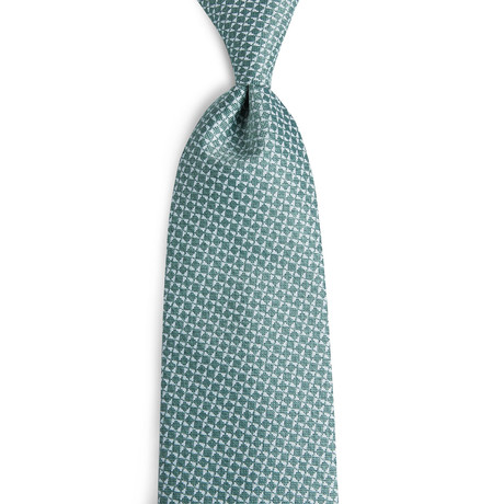 Nelson Handmade Silk Tie // Green