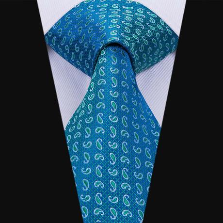 Aries Handmade Silk Tie // Teal