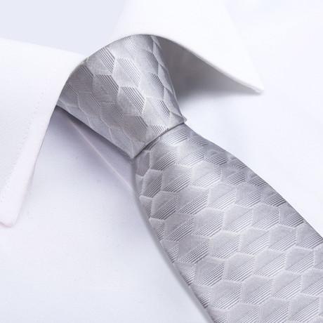 Finley Handmade Silk Tie // Silver