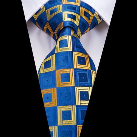 Charles Handmade Silk Tie // Blue + Yellow