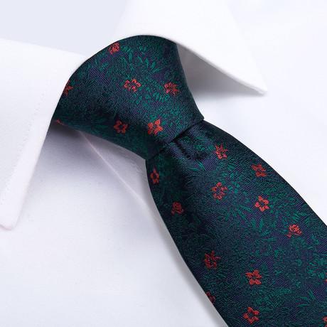 Versailles Handmade Silk Tie // Navy + Dark Green
