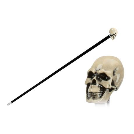 Bone Skull Cane // Black