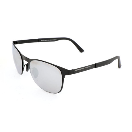 Women's P8578 Sunglasses // Black + Silver