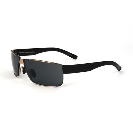 Men's P8509 Sunglasses // Black + Gold