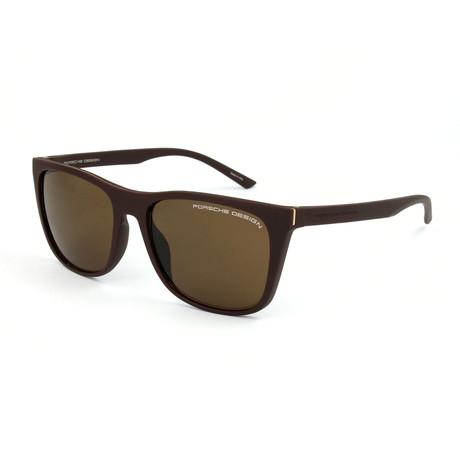Unisex P8648 Sunglasses // Brown