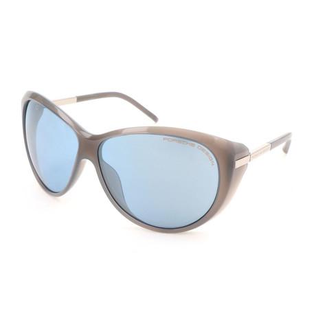 Women's P8602 Sunglasses // Light Gray + Blue