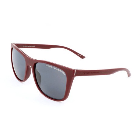 Unisex P8648 Sunglasses // Dark Red