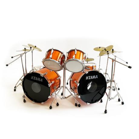 Lars Ulrich // METALLICA Miniature Tama Drum Kit Model // Magnetic Orange