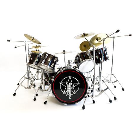 Neil Peart // R30 Black Miniature Drum Kit Model