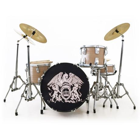 Roger Taylor // Queen Crest Tribute Miniature Drum Kit Model