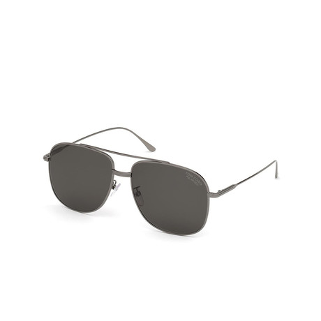 Men's Navigator Polarized Sunglasses // Shiny Gunmetal + Gray