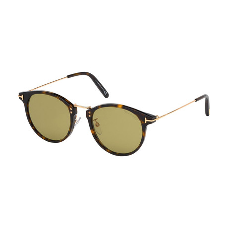 Men's Jamieson Sunglasses // Havana + Gold + Green