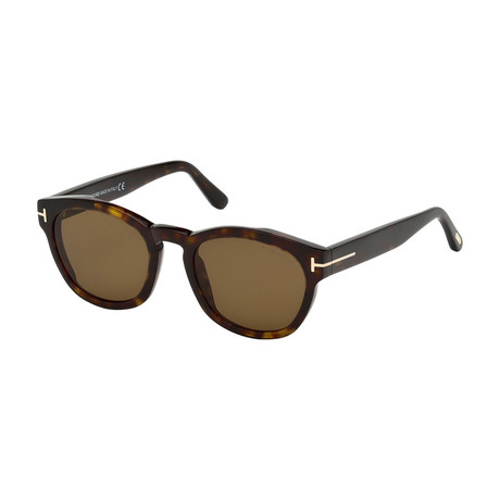 Men's Brian Sunglasses // Dark Havana + Brown