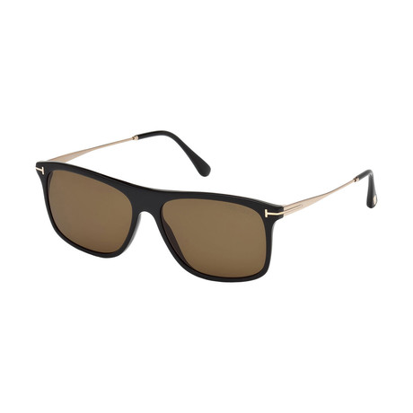 Men's Max Sunglasses // Shiny Black + Brown