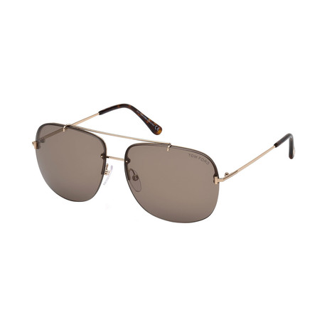 Men's Shelby Sunglasses // Gold + Brown