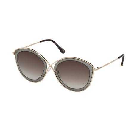 Women's Sascha Sunglasses // Gold + Gray + Brown Gradient