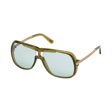 Men's Cane Sunglasses // Olive + Gold + Green