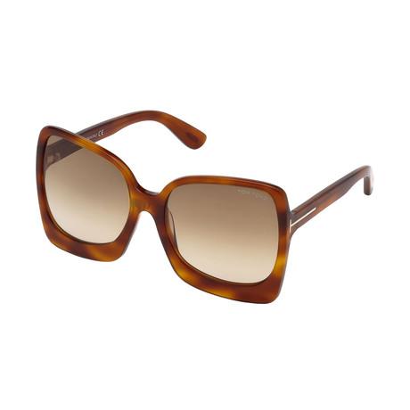 Women's Emanuella Sunglasses // Havana + Brown Gradient