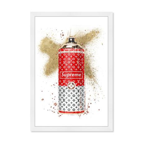 "Glam Spray Gold // Red (26""H x 18""W x 0.5""D)"