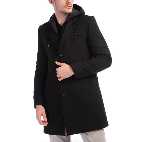 Georgetown Overcoat // Black (Small)