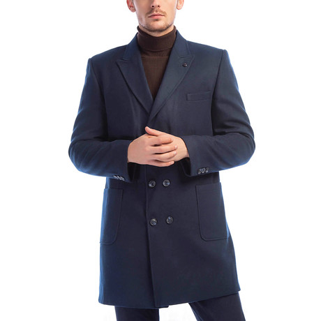 Yonkers Overcoat // Dark Blue (Small)
