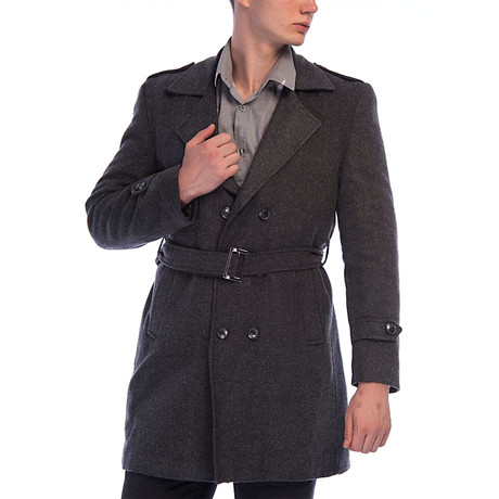 Rochester Overcoat // Patterned Anthracite (Small)