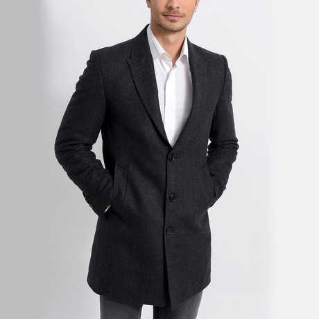 Leavenworth Overcoat // Patterned Anthracite (Small)