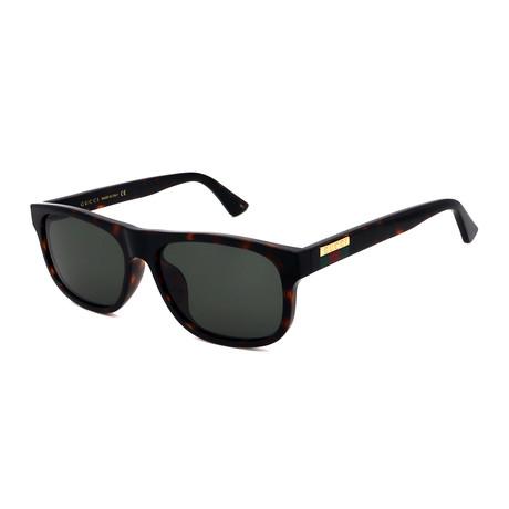 Men's GG0770SA-003 Rectangular Sunglasses // Dark Havana