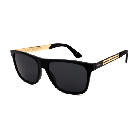 Men's GG0687S-001 Square Sunglasses // Black + Gray