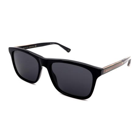Men's GG0381S-007 Square Sunglasses // Black + Gray