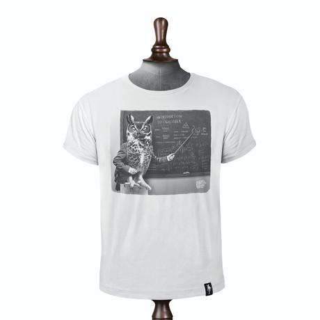 Owlgebra T-shirt // Vintage White (XS)