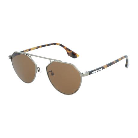 Unisex MQ0095S Aviator Sunglasses // Ruthenium + Havana