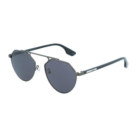Unisex MQ0095S Aviator Sunglasses // Ruthenium + Black
