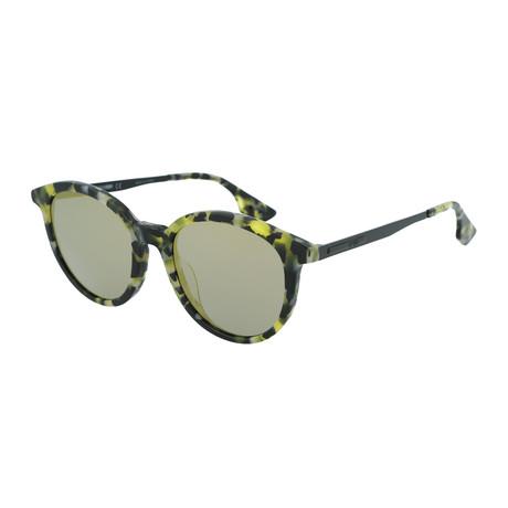 Unisex MQ0069SA Round Sunglasses // Green Havana